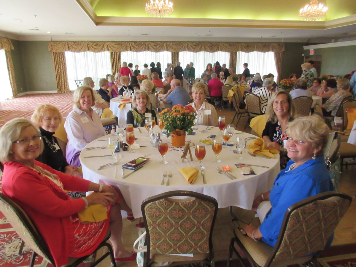 Some of our beautiful members enjoying socializing in the beautiful Blue Grass Country Club