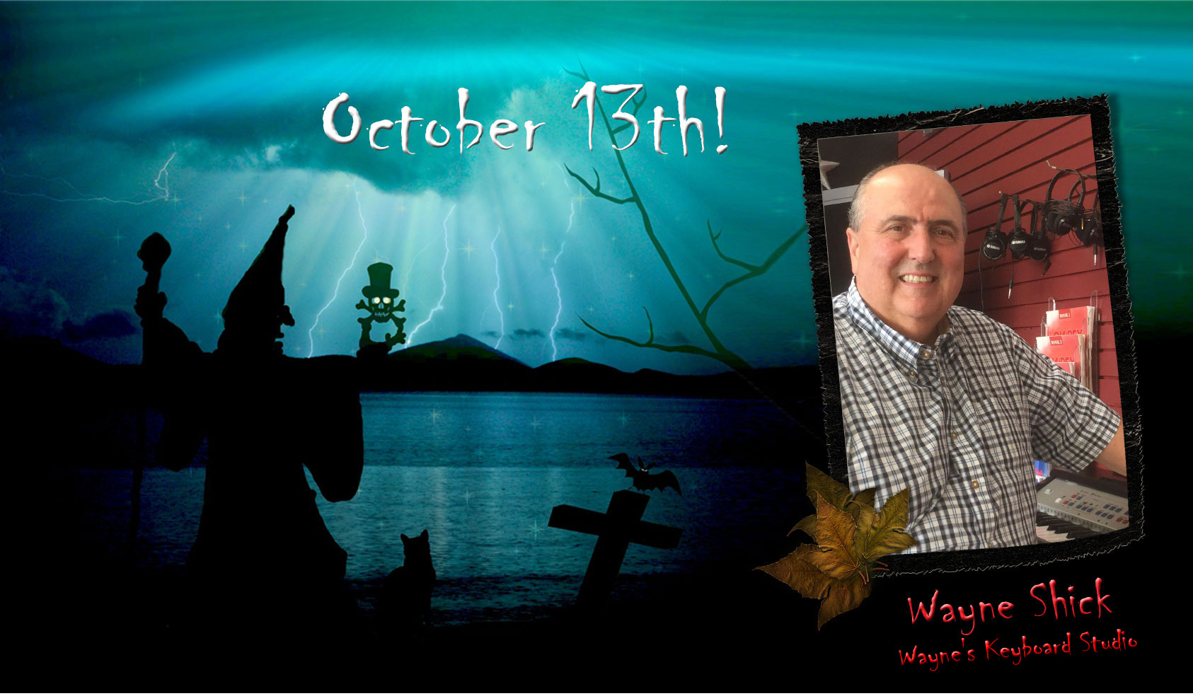 OCtober Luncheon with WItches and Piano Man